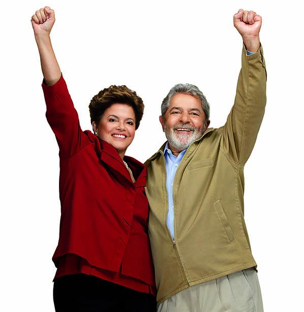 Dilma Rousseff y Lula Da Silva, presidentes de Brasil y del PT