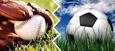 Béisbol vs fútbol.La batalla cultural llevada al deporte (imagen vía radiorebelde.cu)