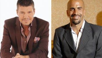 Tinelli y Verón, representantes de una nueva camada dirigencial (foto via Diario Perfil)