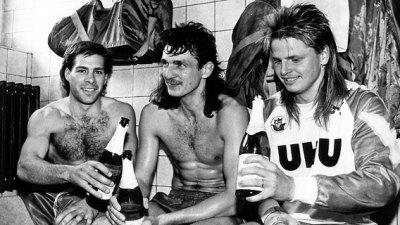 Jugadores del Hansa festejando